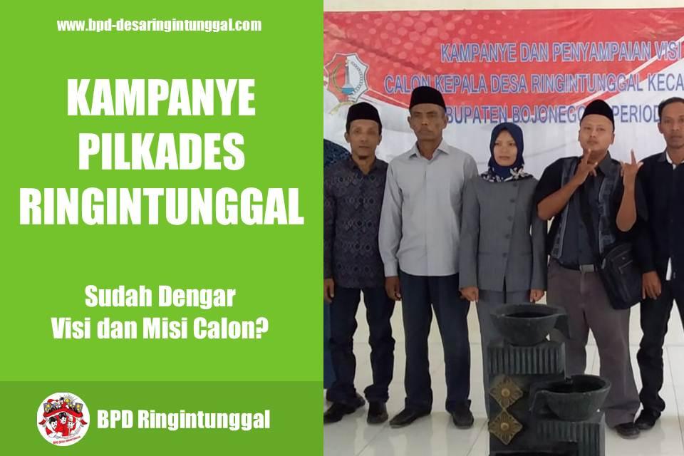kampanye calon kepala desa ringintunggal