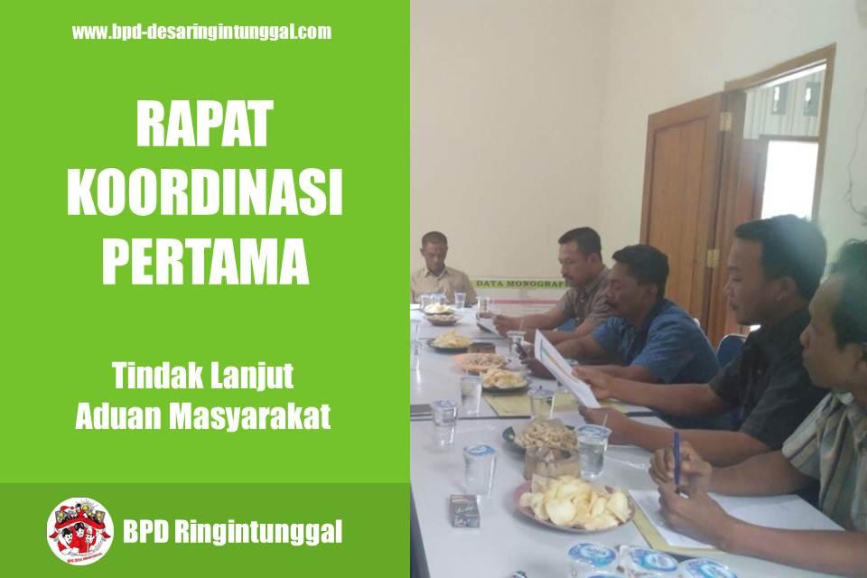 Rapat Kordinasi BPD dan Pemdes Tindak Lanjut Aduan Masyarakat