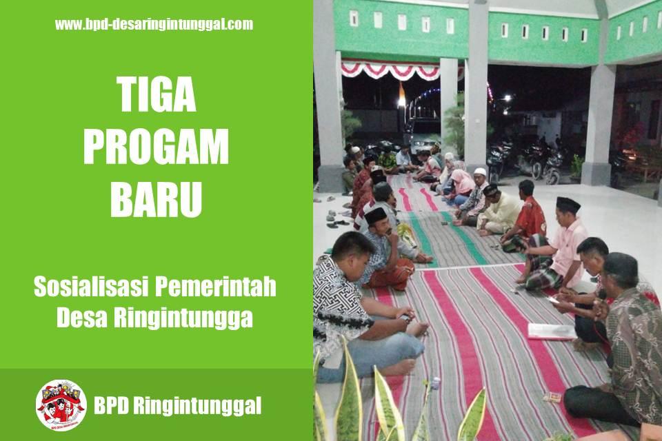 Sosialisasi Program Baru Pemerintah Desa Ringintunggal